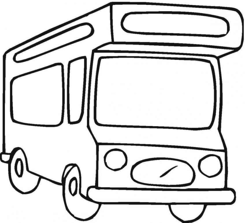 Tổng hợp tranh tô màu xe buýt đẹp nhất cho bé yêu