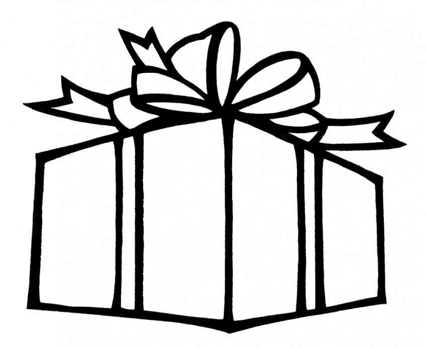 Bộ sưu tập tranh tô màu hộp quà dễ thương cho bé
