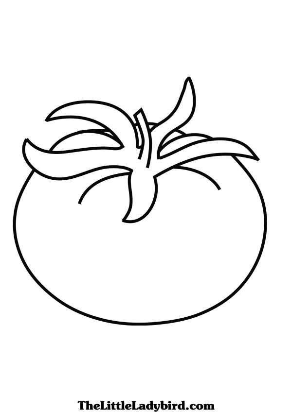 Tổng hợp tranh tô màu quả cà chua giúp bé nhận biết tốt hơn