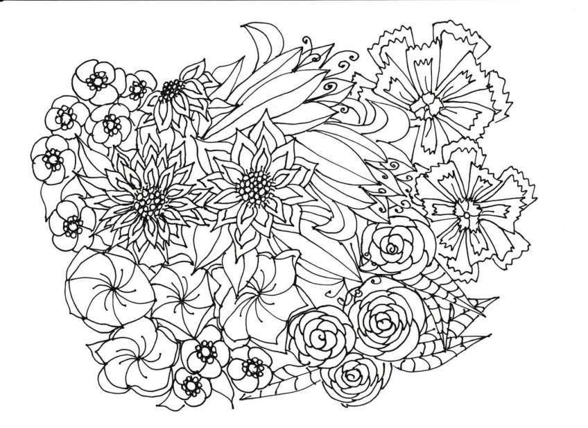 Bộ sưu tập tranh tô màu phong cảnh mùa xuân đầy màu sắc cho bé