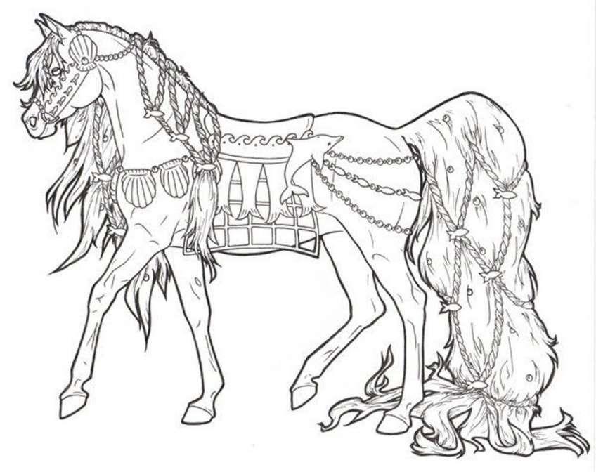 Bộ sưu tập tranh tô màu con ngựa dễ thương cho bé