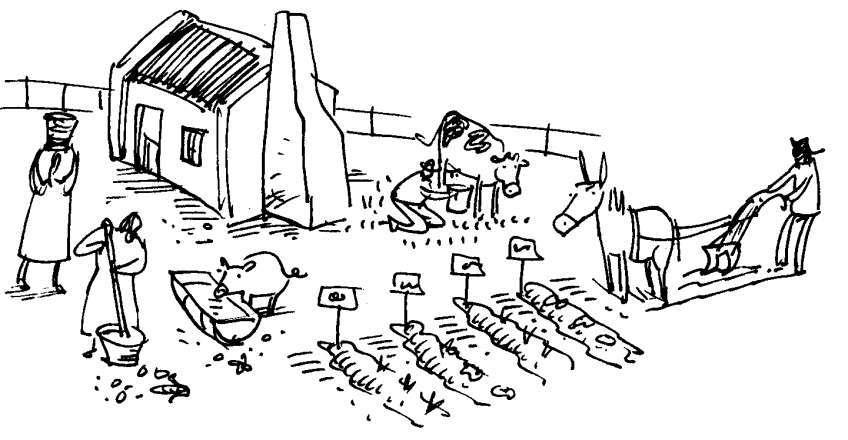 Tổng hợp tranh tô màu về nông cụ giới thiệu đến các bé