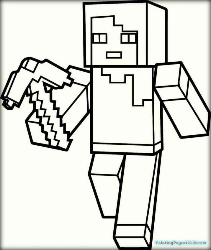 Tuyển tập tranh tô màu Minecraft đẹp nhất cho trẻ em