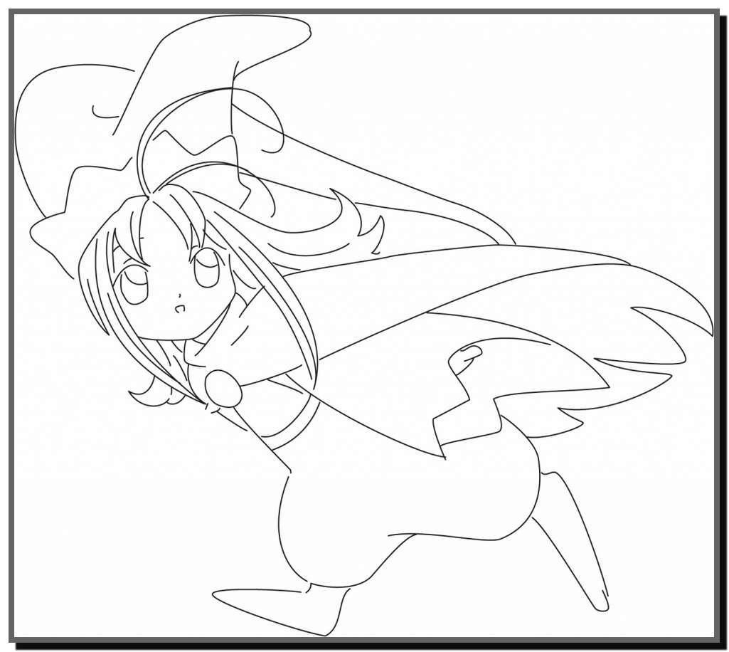 Tuyển tập tranh tô màu thủ lĩnh Sakura sinh động nhất - Tranh Tô Màu cho bé