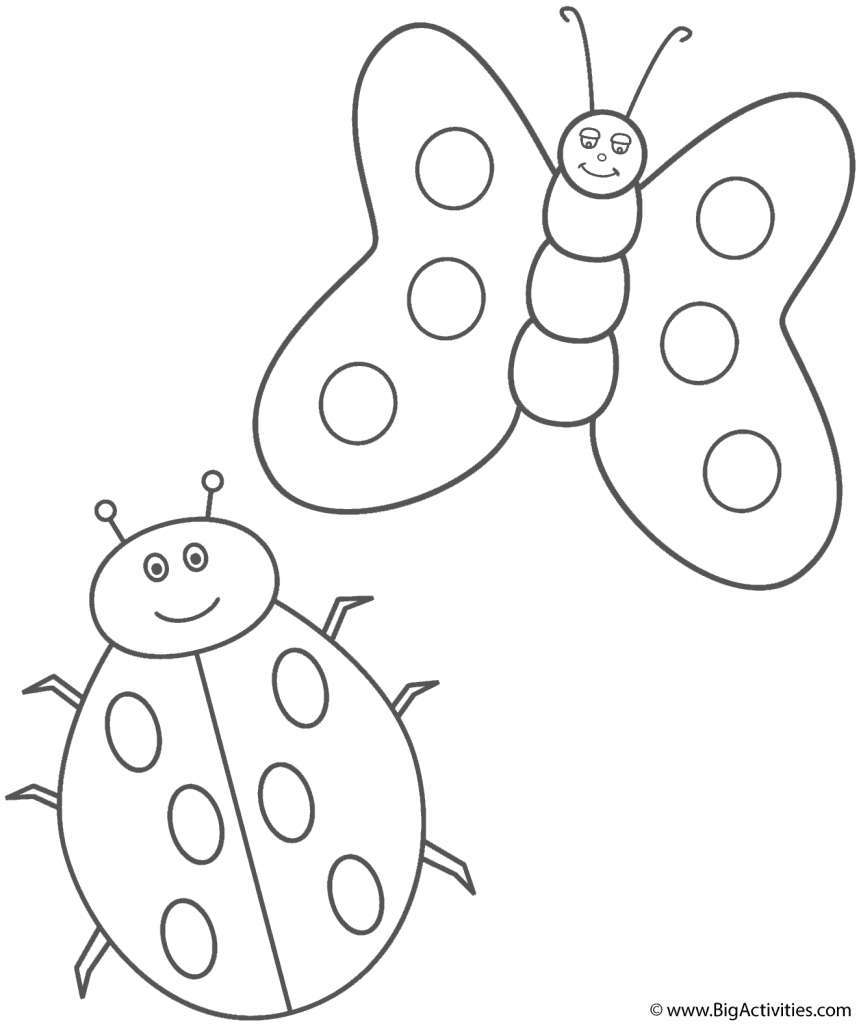 Bộ sưu tập tranh tô màu côn trùng dễ thương nhất cho bé