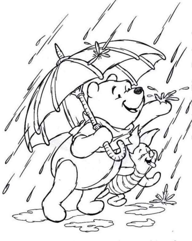 Tuyển tập những bức tranh tô màu về cơn mưa đẹp nhất cho bé yêu