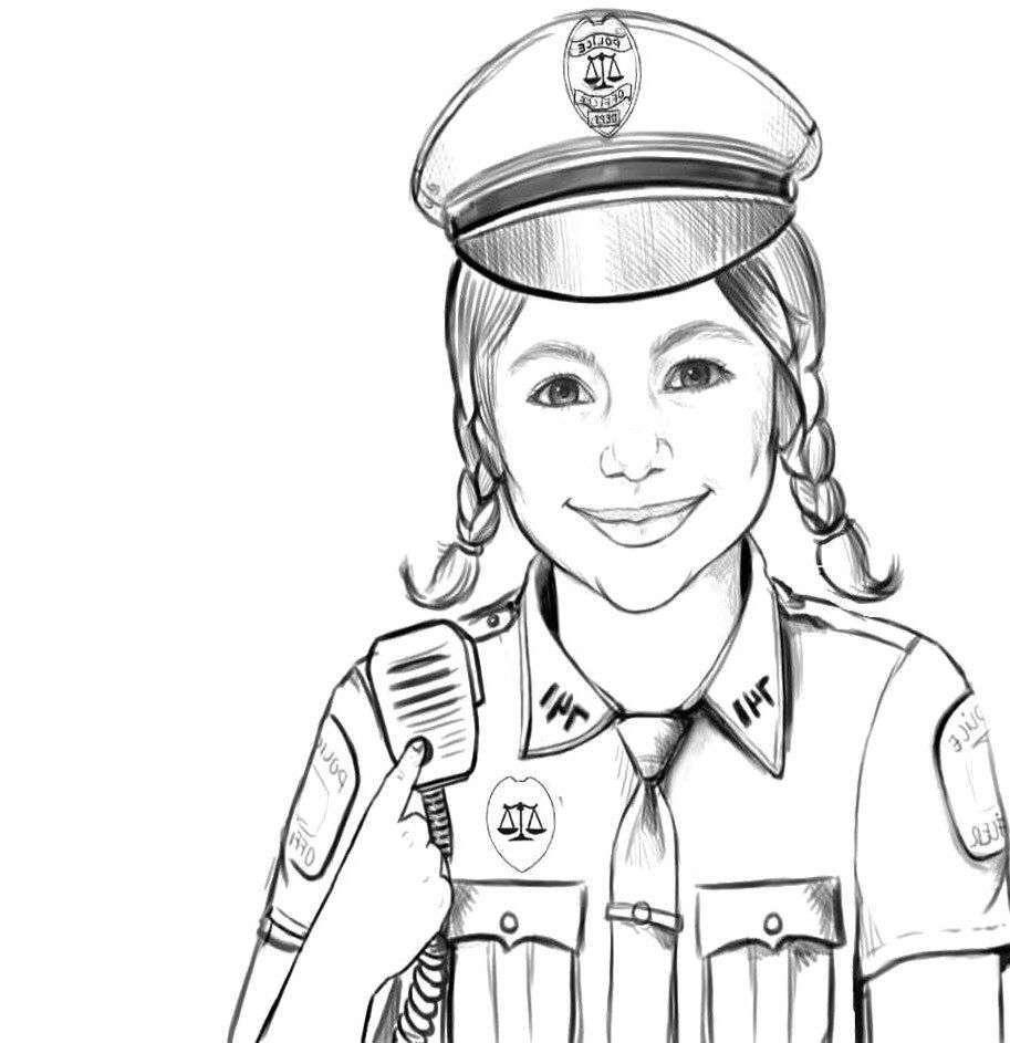 Tổng hợp tranh tô màu cảnh sát đẹp nhất cho bé yêu