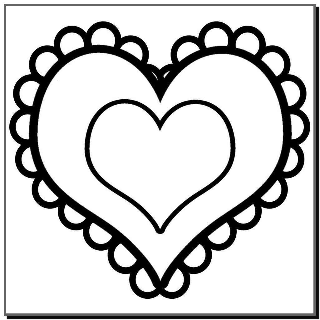 Tuyển tập tranh tô màu hình trái tim đẹp nhất cho bé 1