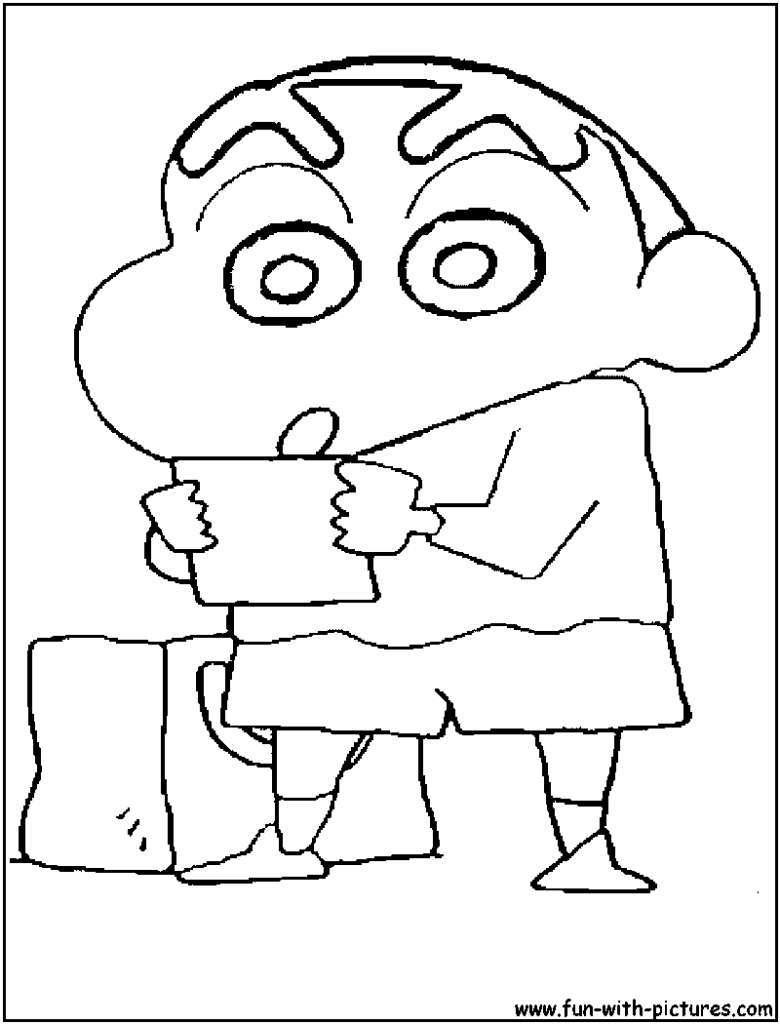 Tổng hợp những bức tranh tô màu của cậu bé bút chì Shin