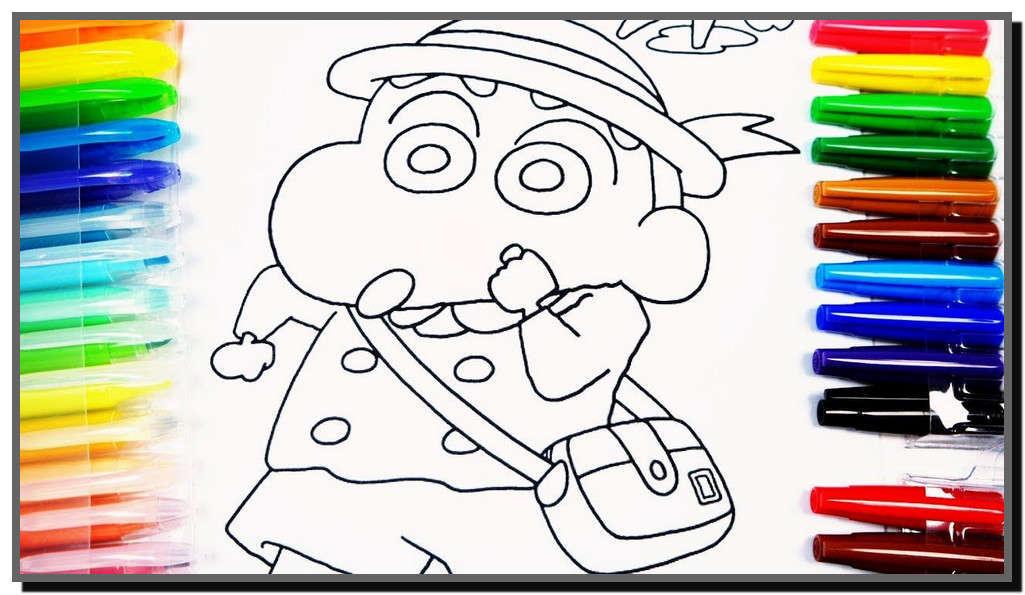 Bộ sưu tập tranh tô màu bút chì Shin