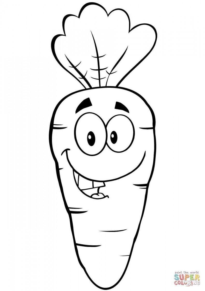 Tuyển tập tranh tô màu củ cà rốt đẹp nhất cho bé