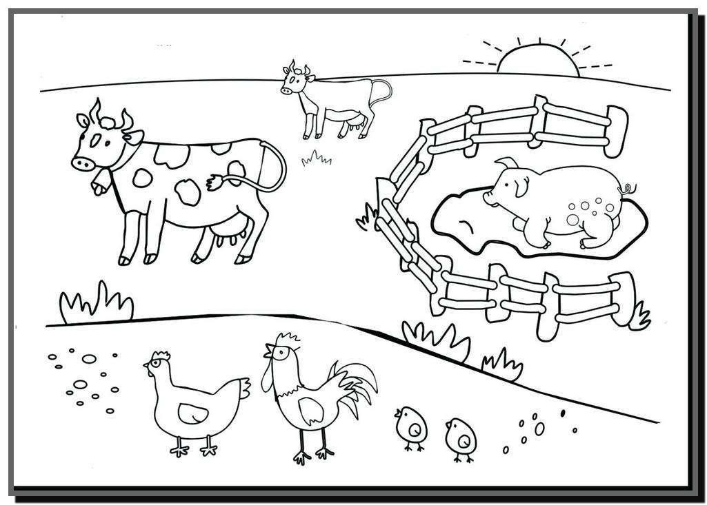Tổng hợp tranh tô màu bác nông dân đẹp nhất cho bé