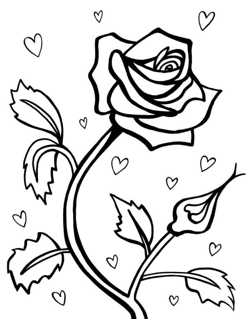Tuyển tập tranh tô màu hoa hồng đẹp nhất cho bé