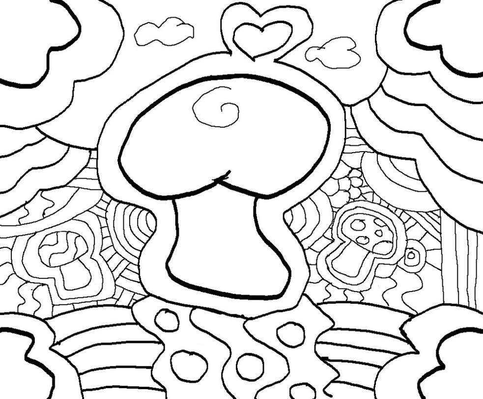 Tổng hợp tranh tô màu cây nấm đẹp nhất cho bé