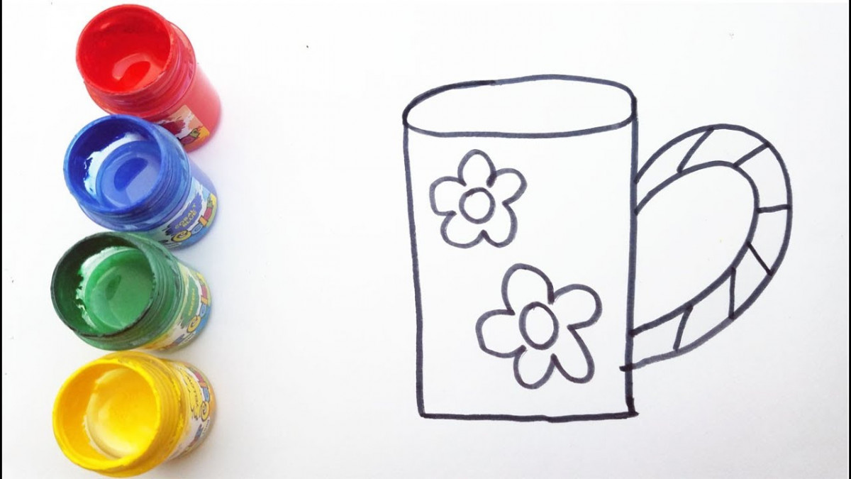Bố mẹ hãy in ra để bé tập tô màu mỗi ngày bằng màu nước hoặc màu
