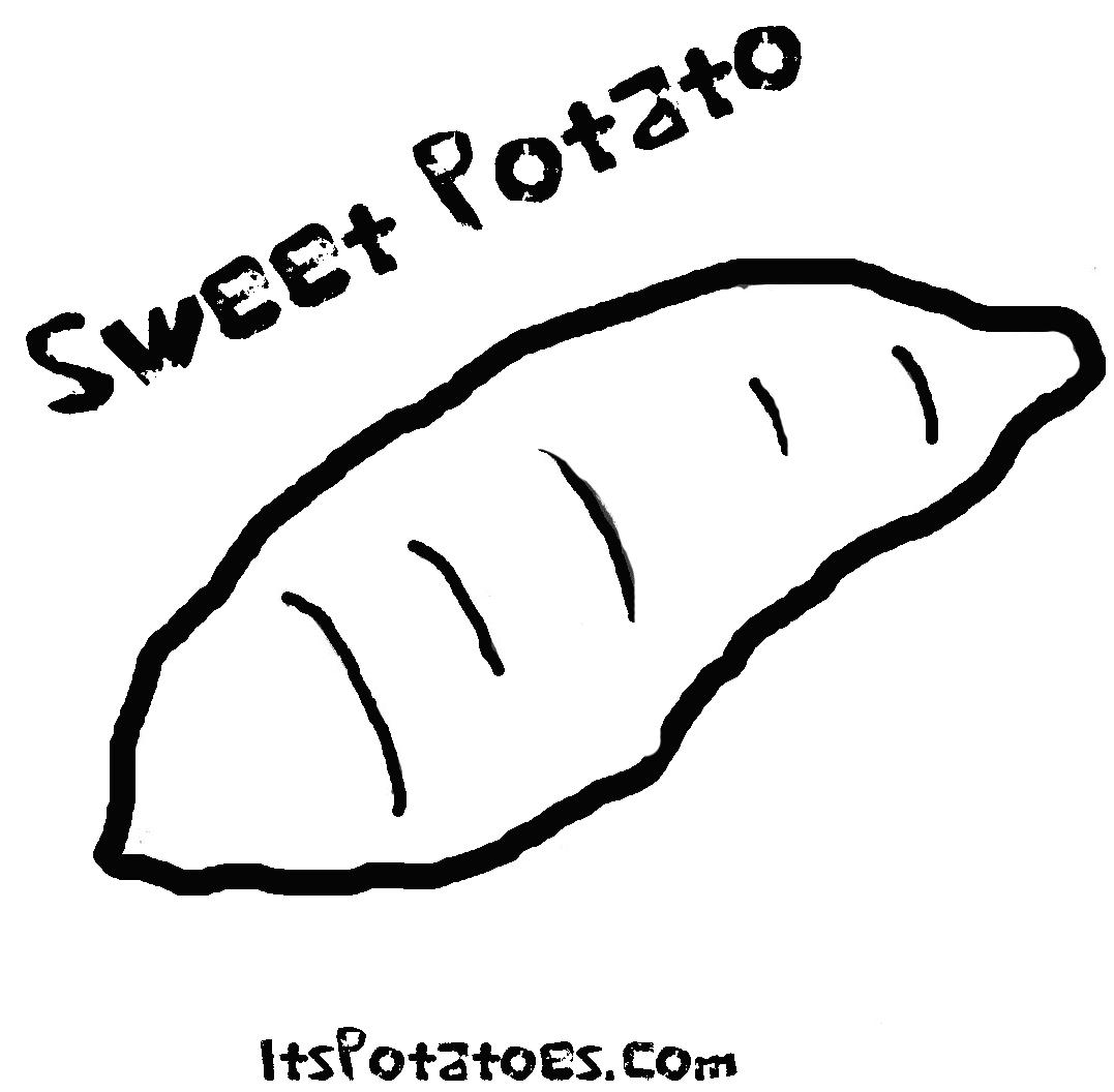 Tổng hợp tranh tô màu củ khoai lang đẹp nhất cho bé tập tô mỗi ngày