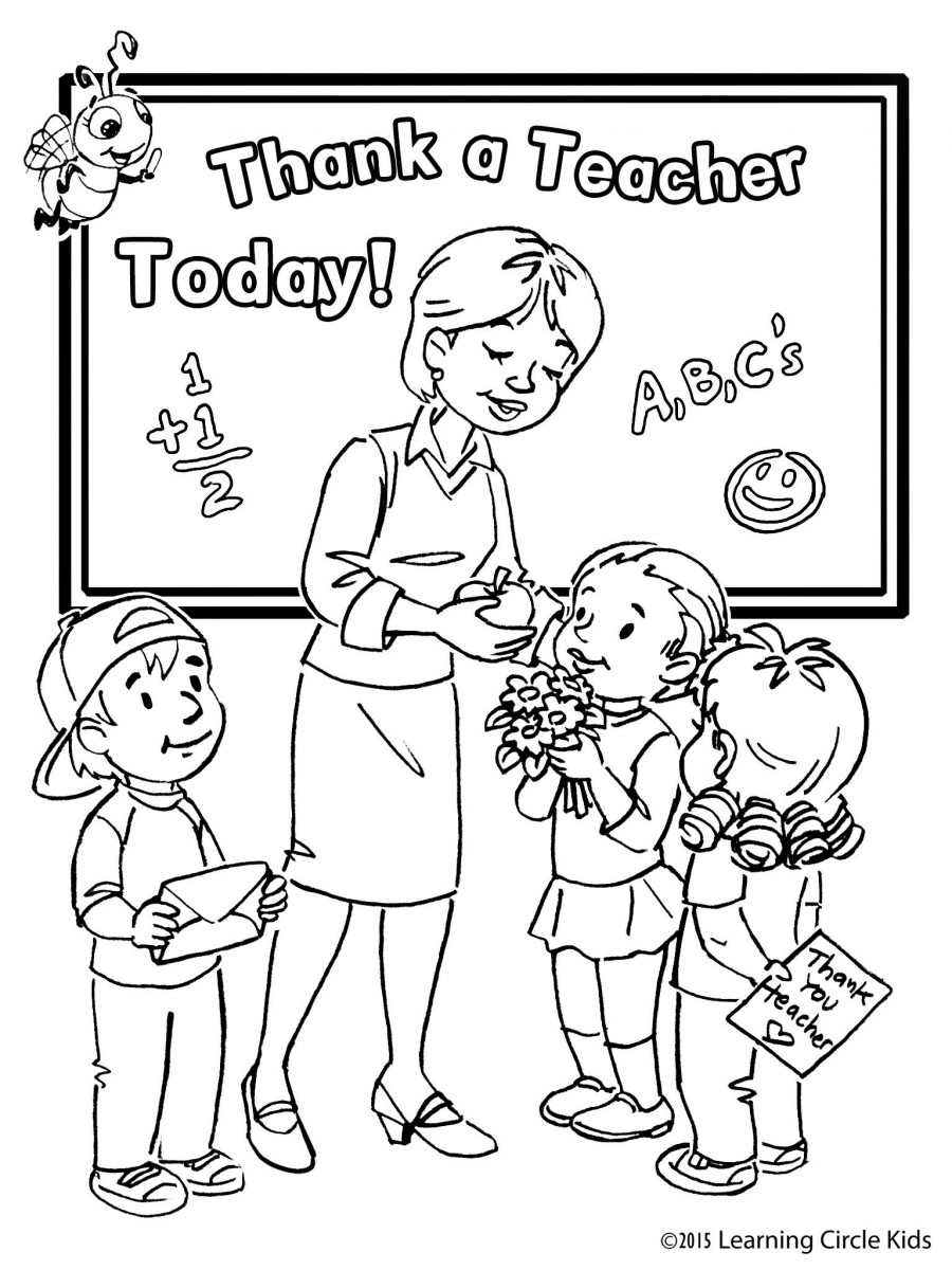 Tuyển tập tranh tô màu 20-11 đẹp nhất cho bé