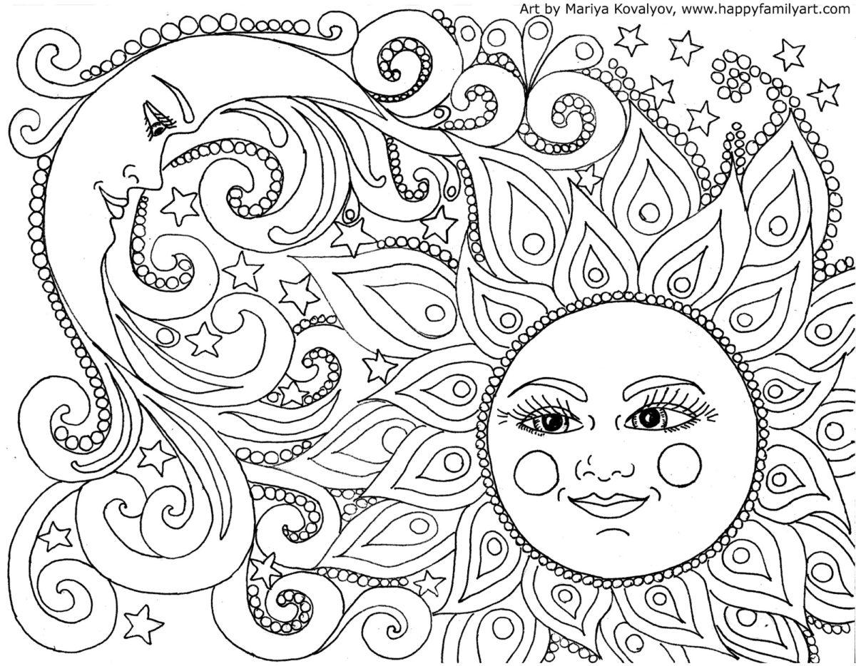 Bộ sưu tập tranh tô màu nắng đẹp nhất cho bé yêu