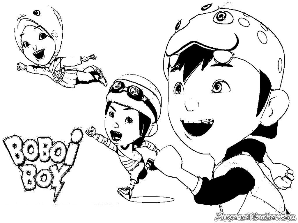 Tuyển tập tranh tô màu boboiboy đẹp nhất cho bé