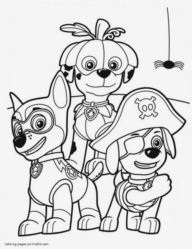 Tổng hợp tranh tô màu chú chó cứu hộ đẹp nhất cho bé