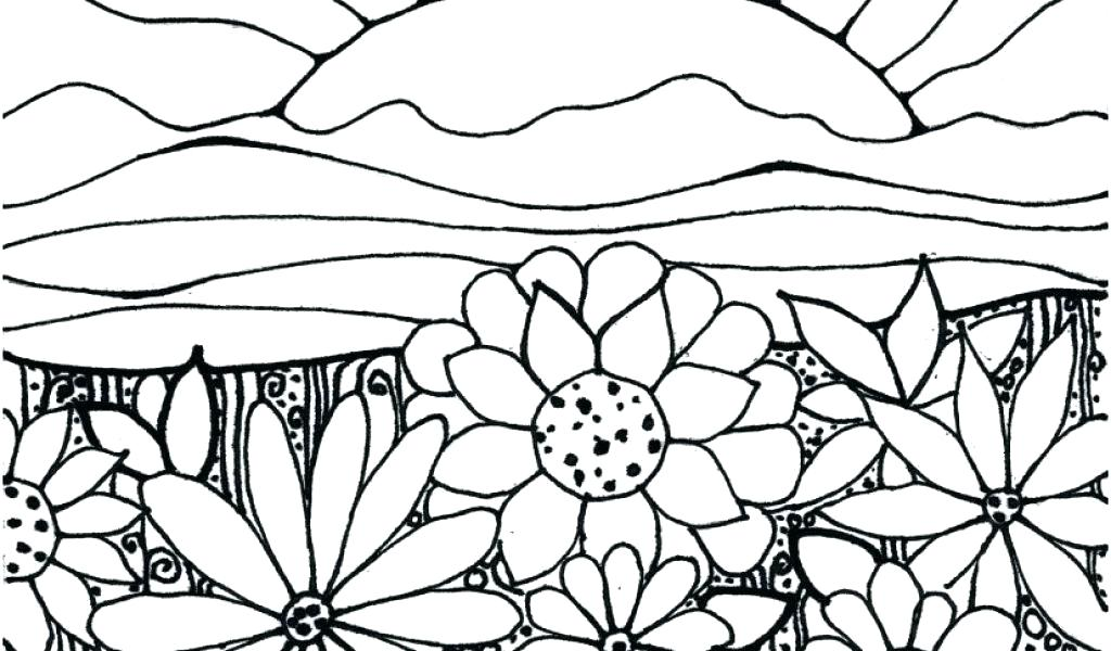 Tổng hợp tranh tô màu vườn hoa đẹp nhất cho bé