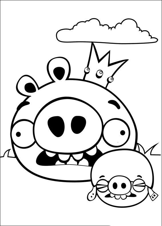 Tuyển tập tranh tô màu Angry Birds đẹp nhất cho bé
