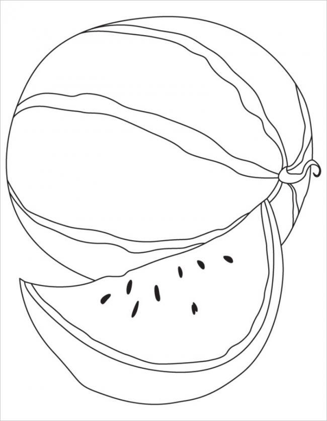 Tổng hợp tranh tô màu quả dưa hấu cho bé tập tô