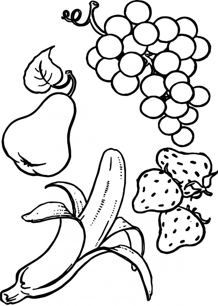 Bộ sưu tập tranh tô màu quả dâu tây tập tô cho bé