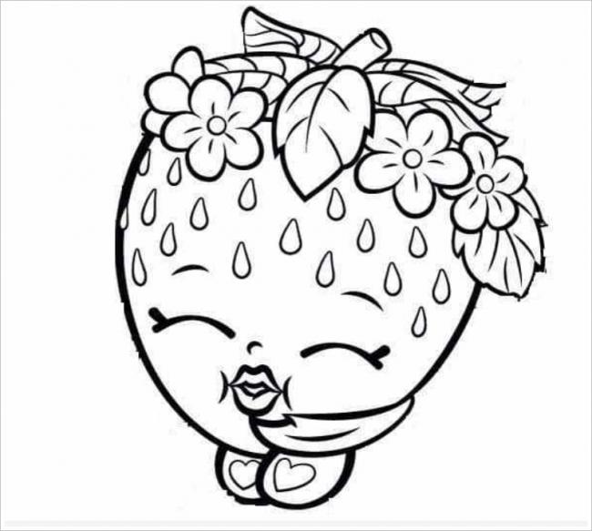 Bộ sưu tập tranh tô màu dâu tây cho bé tập tô