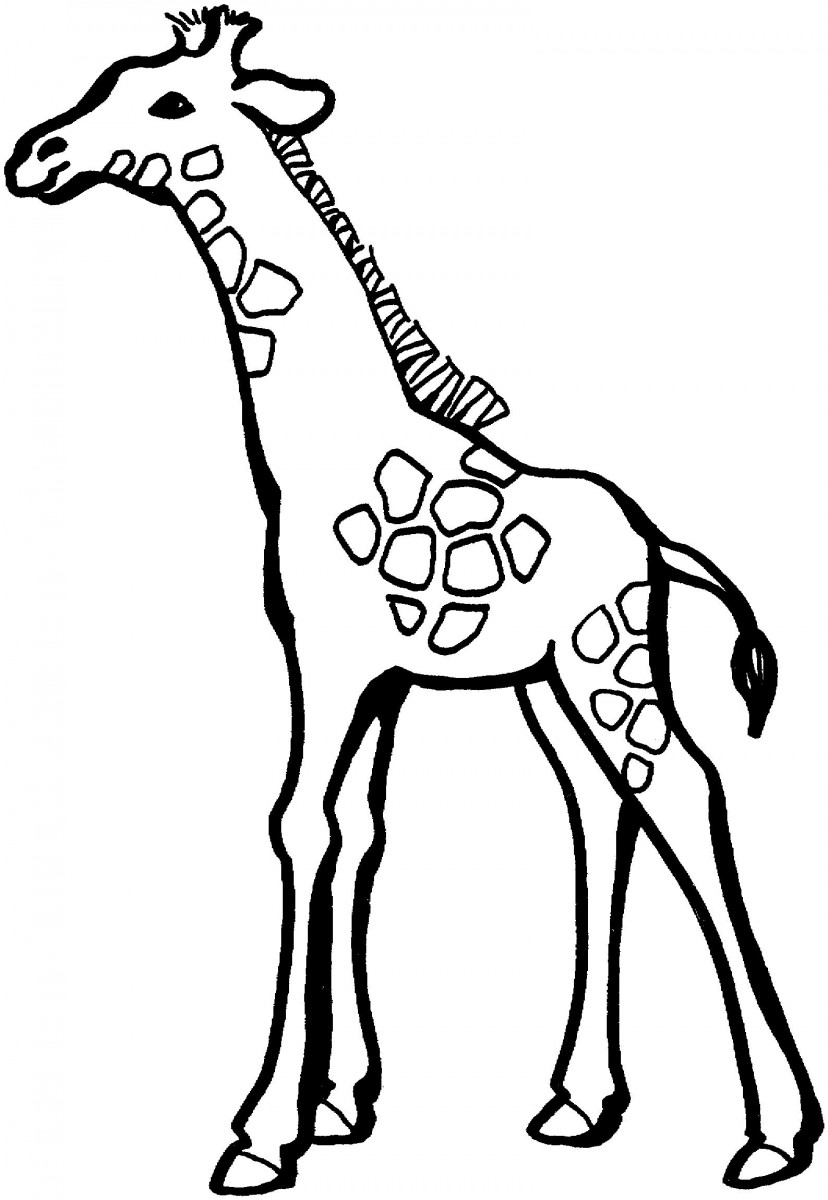 Tuyển tập tranh tô màu hươu cao cổ đẹp nhất cho bé