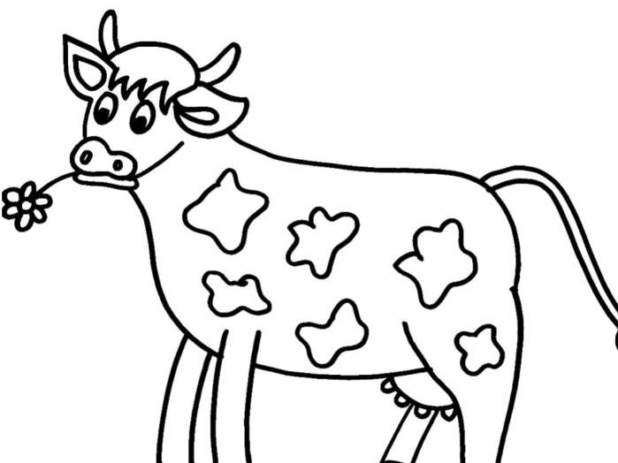 Tổng hợp tranh tô màu con bò đẹp nhất cho bé yêu
