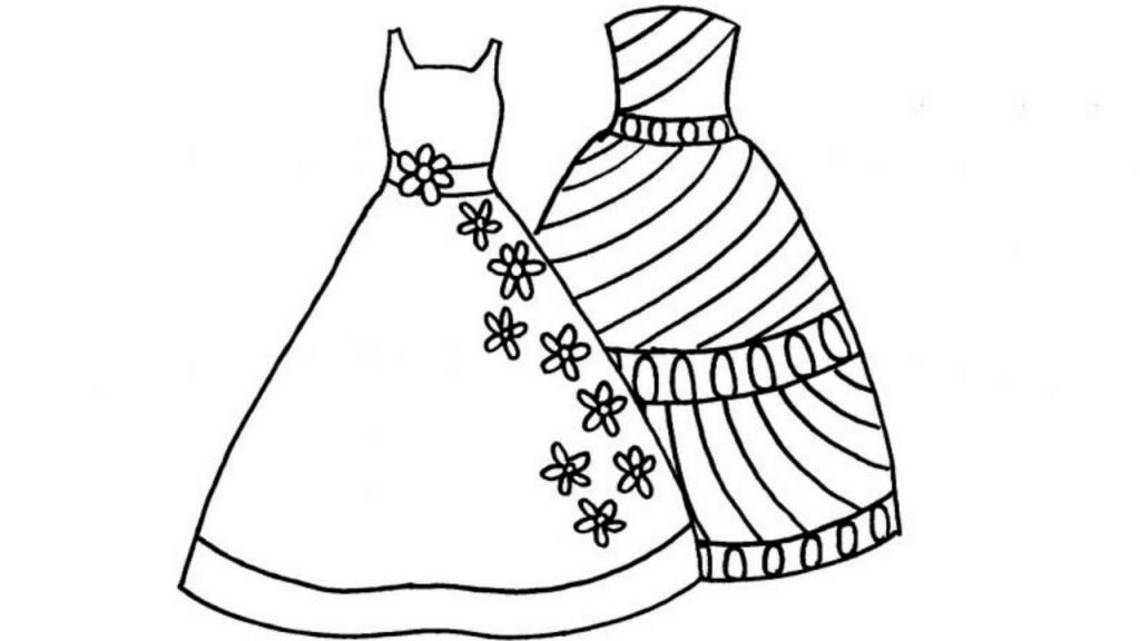 Tuyển tập tranh tô màu váy công chúa đẹp nhất cho bé