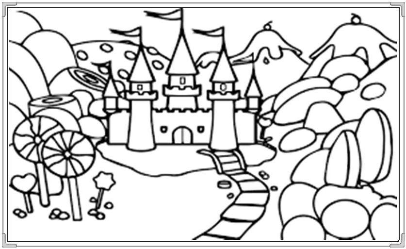 Bộ sưu tập tranh tô màu lâu đài đẹp nhất cho bé yêu