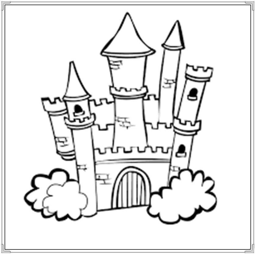 Bộ sưu tập tranh tô màu lâu đài đẹp nhất cho bé