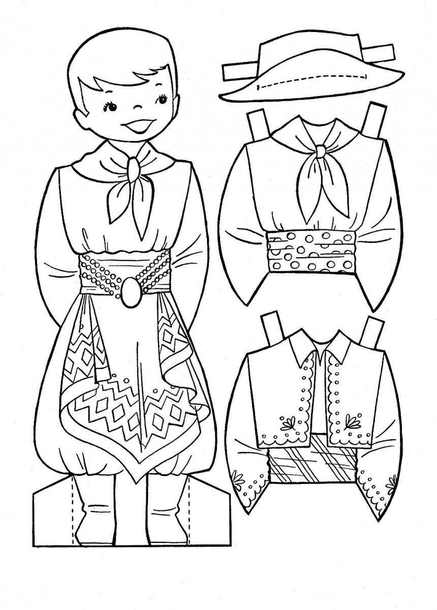 Tuyển tập những bức tranh tô màu quần áo cho bé đẹp nhất