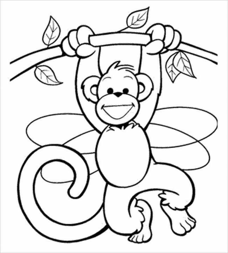 Tuyển tập tranh tô màu con khỉ đẹp nhất