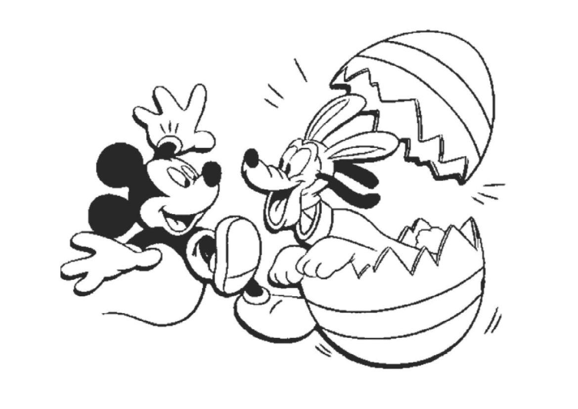 Tuyển tập những bức tranh tô màu chuột Mickey đẹp nhất