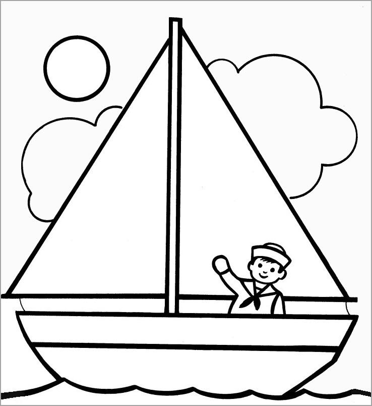 Bộ sưu tập tranh tô màu thuyền buồm đẹp nhất