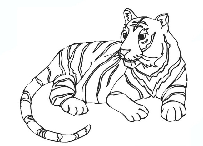 Tổng hợp những tranh tô màu con hổ hay nhất