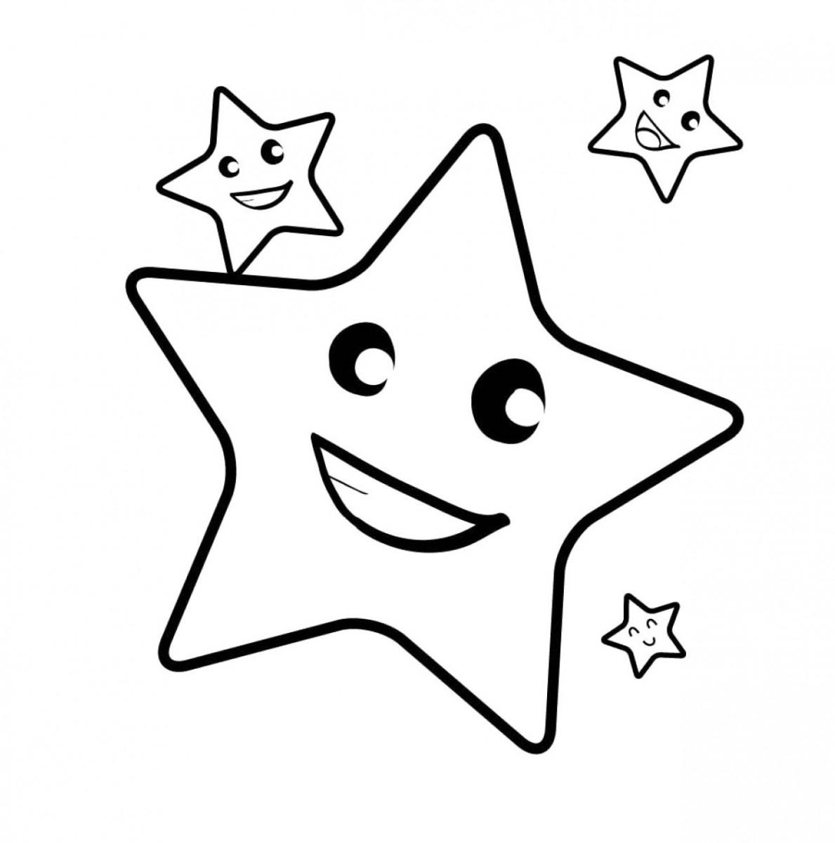 Bộ sưu tập tranh tô màu ngôi sao đẹp cho bé