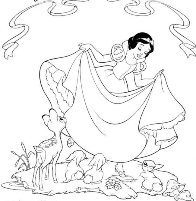 Bộ sưu tập tranh tô màu công chúa bạch tuyết