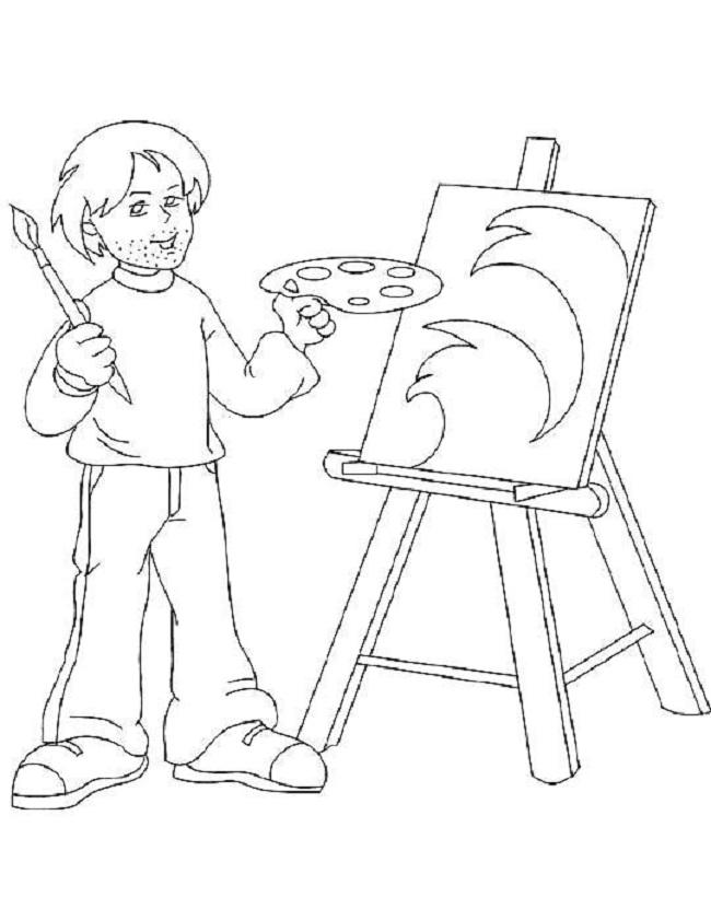 Tổng hợp tô màu chủ đề nghề vẽ tranh