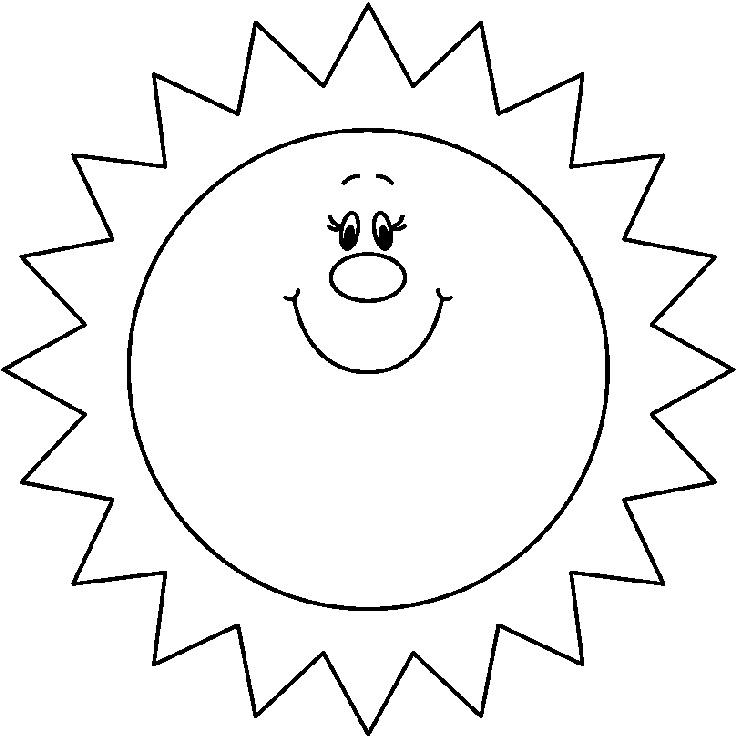 Tổng hợp tranh tô màu mặt trời đẹp nhất