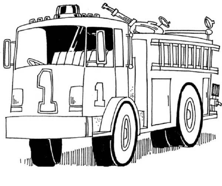 Tổng hợp tranh tô màu xe cứu hỏa