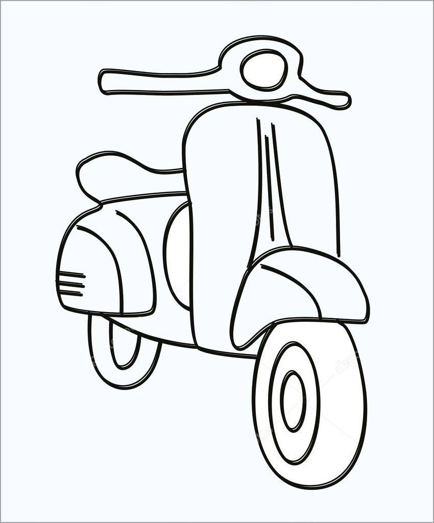 Tổng hợp tranh tô màu xe máy đẹp