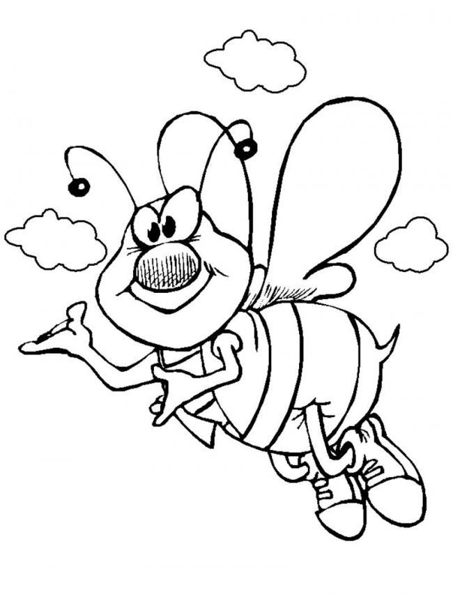 Tổng hợp tranh tô màu con ong đẹp