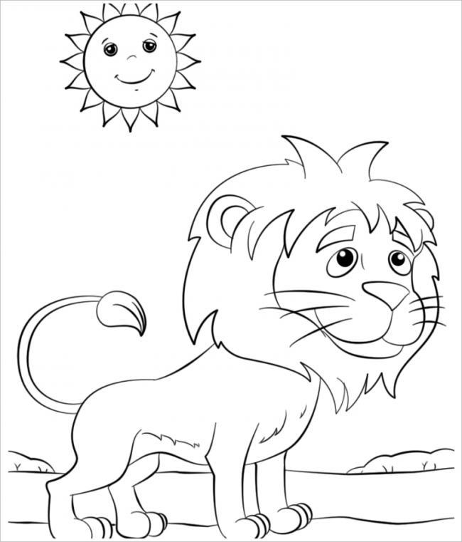 Tổng hợp những bức tranh tô màu về Sư Tử đẹp