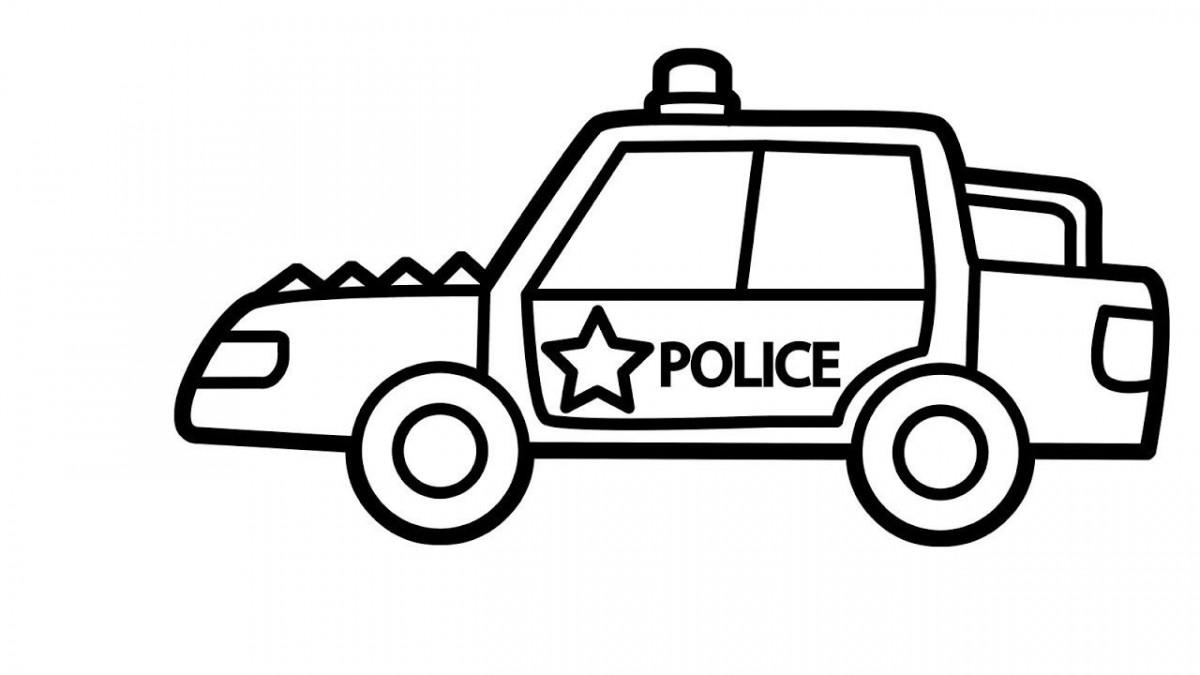 Bộ sưu tập tranh tô màu xe cảnh sát đẹp