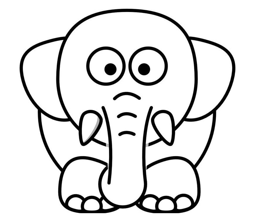 Tuyển tập tranh tô màu con voi đẹp nhất