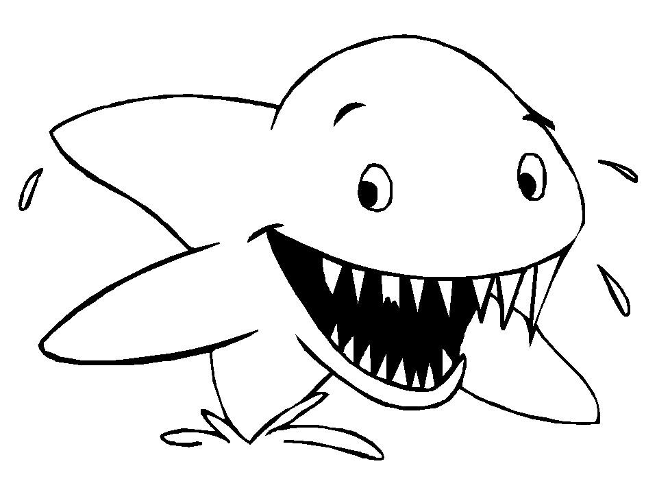 Bộ sưu tập tranh tô màu cá mập đẹp
